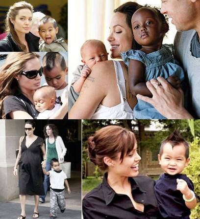 angelina jolie family pictures