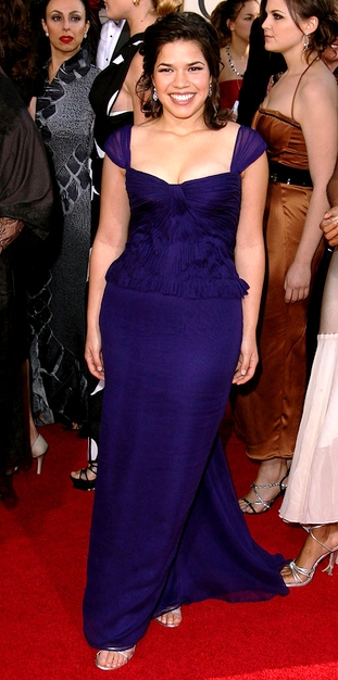 America Ferrera red carpet golden globes 2007