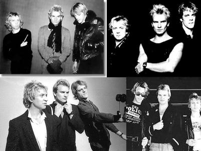 the police black and white photos