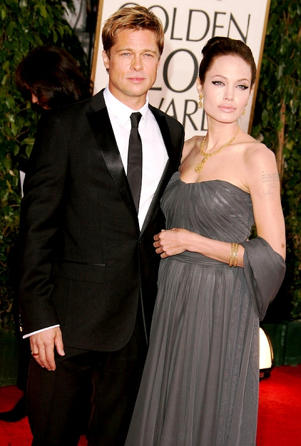 brad pitt angelina jolie red carpet golden globes 2007