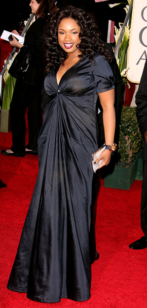 jennifer hudson red carpet golden globes 2007