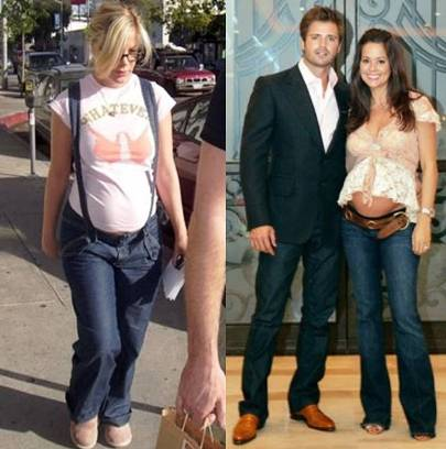 tori spelling brooke burke pregnant fashion disasters