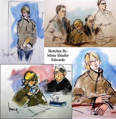 Paris Hilton Courtroom Sketches