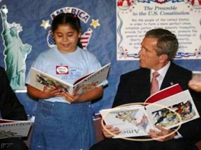 george w bush upside down book