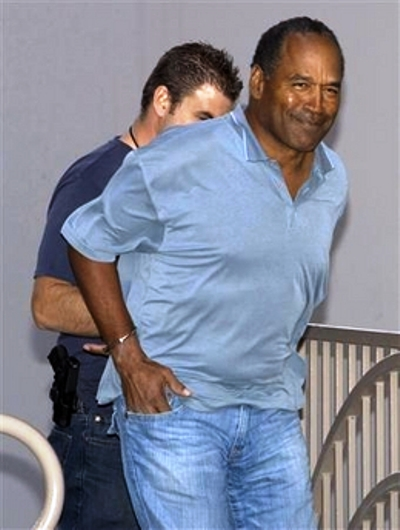 oj simpson arrested 2007
