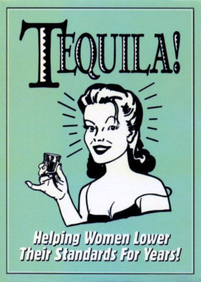 vintage tequila poster female