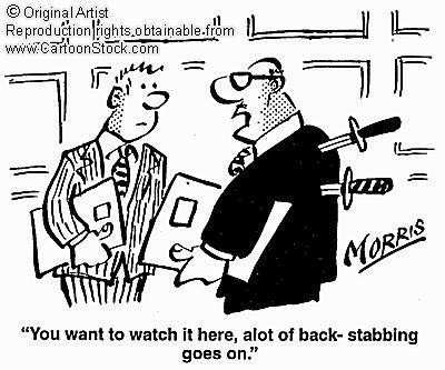 backstabbing cartoon