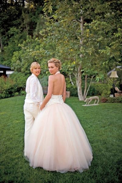 ellen degeneres portia de rossi wedding photo