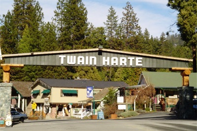 entering twain harte california