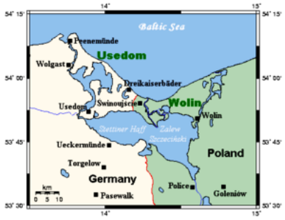 map of western pomerania germany