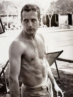 paul newman no shirt