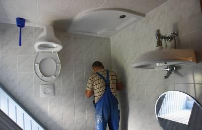 upside down house germany bathroom