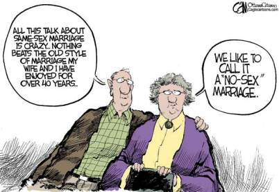 old married couple cartoon