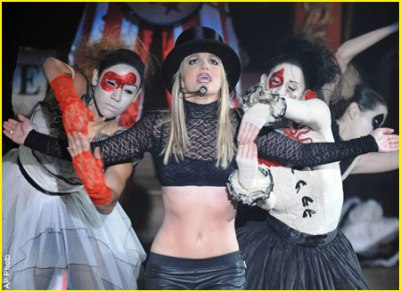 britney spears circus tour clowns