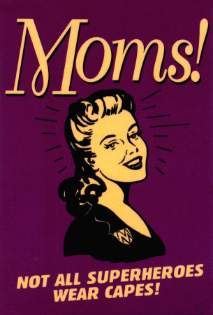 when is mothers day supermom vintage poster