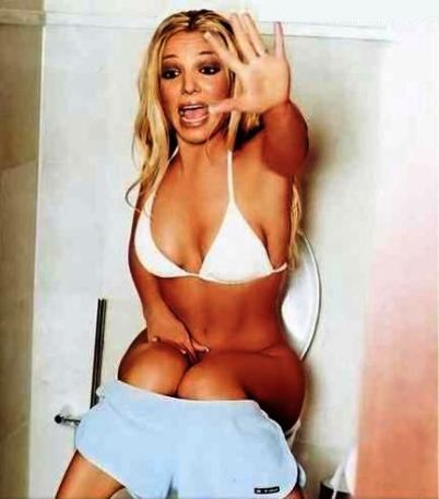 britney spears on toilet picture