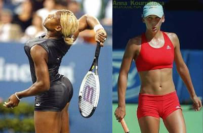 serena williams anna kournikova sexy tennis outfits