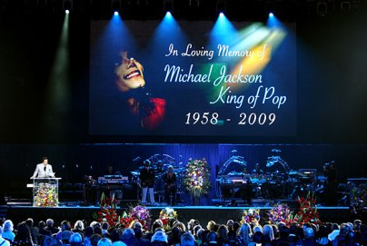 michael jackson memorial in loving memory