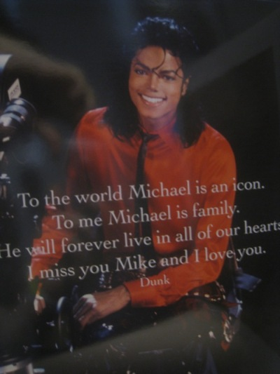 michael jackson memorial booklet inside cover
