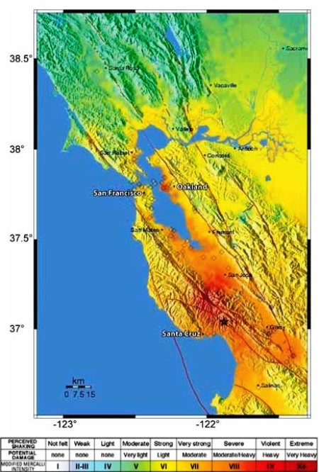 1989 Loma Prieta Earthquake Map