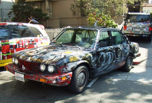 berkeley art car graffiti