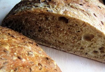 homemade deli style rye bread
