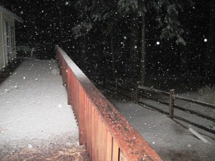 Twain Harte Snow at Night