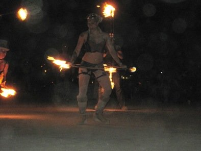 burning man just married fire dancer