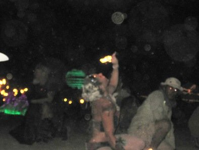 burning man festival 2010 fire eater female
