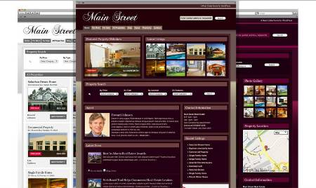 main street real estate wordress theme