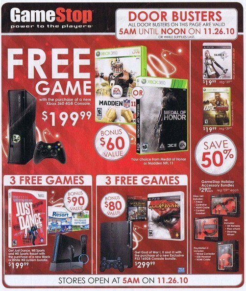 gamestop black friday sale 2010