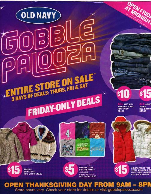 old navy black friday sale 2010