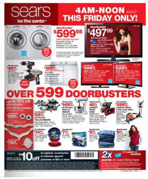 sears black friday sale 2010