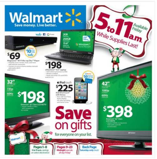 walmart black friday sale 2010