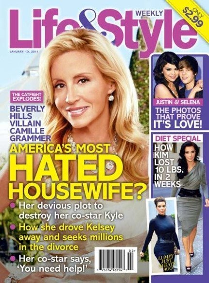 camille grammer life style magazine cover