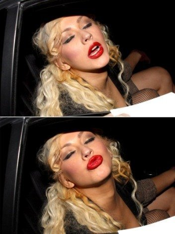 christina aguilera drunk passed out bed