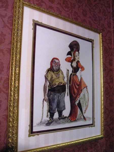 disneyland hotel pirates of the caribbean suite bathroom artwork