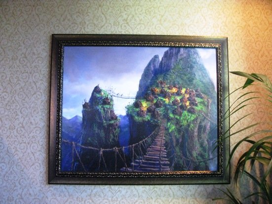 disneyland hotel pirates of the caribbean suite livingroom artwork