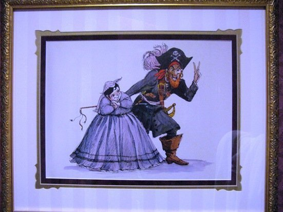 disneyland hotel pirates of the caribbean suite toilet artwork