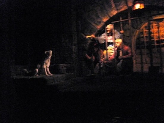 disneyland park pirates of the caribbean jail dog