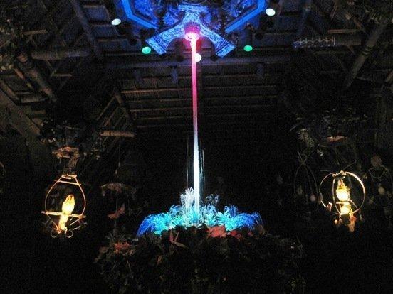 enchanted tiki room center fountain
