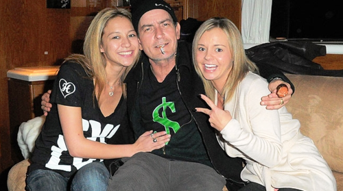 charlie sheen and his goddesses