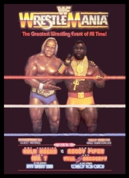 wrestlemania 1 official poster 1985