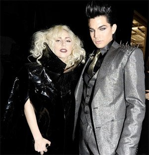 adam lambert kicked out of lady gaga party