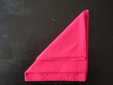 napkin folding santa hat 4