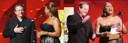 Queen Latifah Al Gore 2007 Grammys