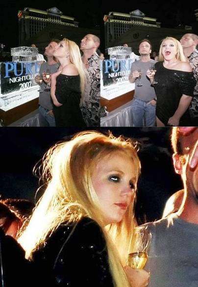 britney spears celebrates new years at pure by passing out