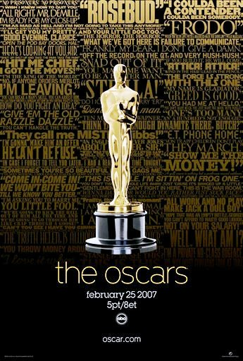 2007 oscars poster