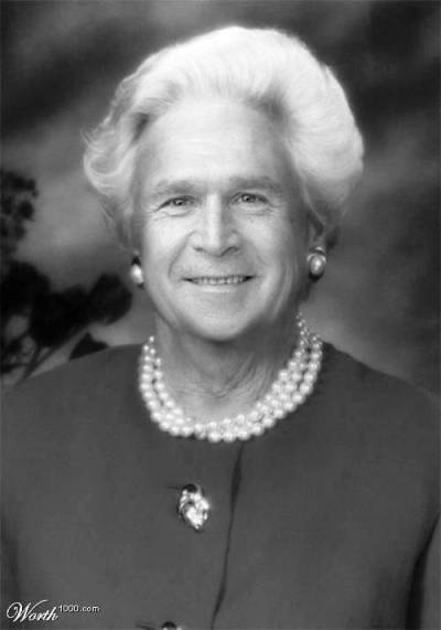 bush as his mother