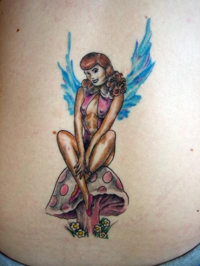 fairy mushroom tattoo